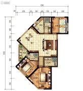 建投・洱海寰球时代3室2厅3卫139平方米户型图