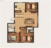 绿地中央广场3室2厅2卫0平方米户型图