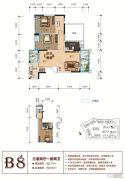 天立香缇华府3室2厅2卫127--143平方米户型图