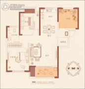 澳海澜庭3室2厅1卫95平方米户型图