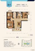 建投・御湖园3室2厅1卫85平方米户型图