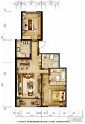 胜古誉园2室2厅2卫91平方米户型图