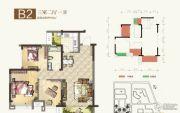 瑞松・中心城3室2厅1卫0平方米户型图