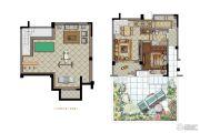 大华锦绣华城1室2厅1卫62平方米户型图