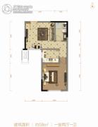 北大资源阅城1室2厅1卫58平方米户型图