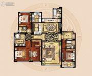 保利海德公馆3室2厅3卫281平方米户型图