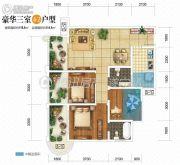 双发广场3室2厅2卫110平方米户型图