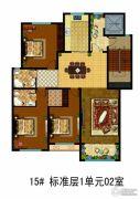 万国园白金汉府3室2厅2卫169平方米户型图