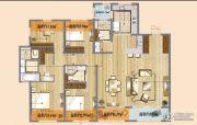 朗诗天萃4室2厅3卫170平方米户型图