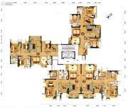 天悦湾118--128平方米户型图