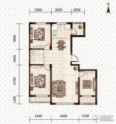 益和国际城3室2厅1卫116平方米户型图