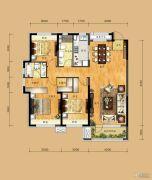 华润二十四城3室2厅2卫133平方米户型图