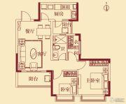 恒大翡翠华庭2室2厅1卫89平方米户型图