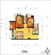 江南中央花园3室2厅2卫82--94平方米户型图