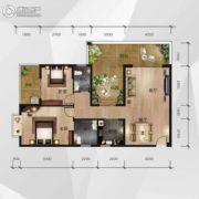中南明珠2室2厅2卫118平方米户型图
