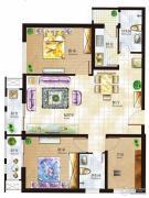 丁豪广场3室0厅0卫0平方米户型图