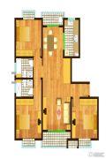 逸时区3室2厅2卫134平方米户型图