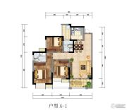 红城首府3室2厅2卫0平方米户型图