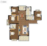 东方名苑4室2厅2卫151平方米户型图