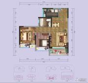 国际康城2室2厅1卫62平方米户型图