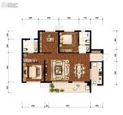 万科&新城  时代之光2室1厅2卫100平方米户型图