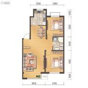 世百居・洪湖湾2室2厅1卫80平方米户型图
