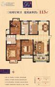 帝景豪苑3室2厅2卫113平方米户型图