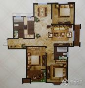 天中国际4室2厅2卫162平方米户型图