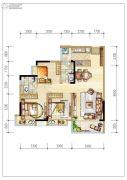 碧桂园森林里3室2厅2卫96平方米户型图