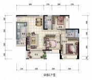 大信君汇湾3室2厅2卫116平方米户型图