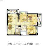 永鸿商业广场3室2厅1卫0平方米户型图