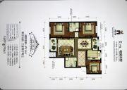 香槟小镇3室2厅2卫116平方米户型图