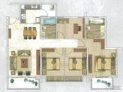 时代天韵4室2厅2卫132--138平方米户型图
