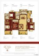 万科・红郡西岸4室2厅2卫158平方米户型图