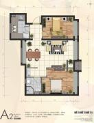 首创・新悦都2室2厅1卫68平方米户型图