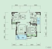 大洋五洲2室2厅1卫90平方米户型图