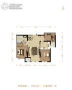 北大资源阅城3室2厅1卫94平方米户型图