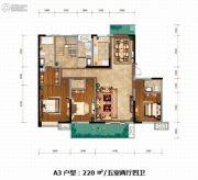 紫薇西棠5室2厅4卫220平方米户型图