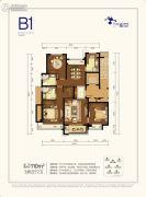 万科星空3室2厅2卫110平方米户型图