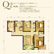 永定河孔雀城英国宫3室2厅2卫112平方米户型图
