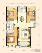 弘洋・拉菲庄园3室2厅2卫113平方米户型图
