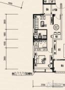 龙光棕榈水岸1室2厅1卫53平方米户型图