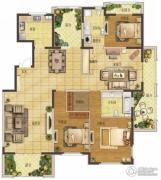 香江湾3室2厅2卫179平方米户型图