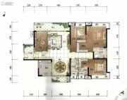 美的君兰江山4室2厅3卫192平方米户型图