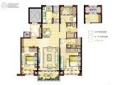 碧桂园幸福里3室2厅2卫115平方米户型图