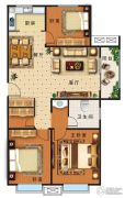盛世康城四期・鑫园3室2厅1卫114平方米户型图