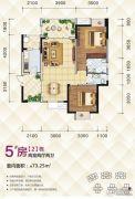 港城印象2室2厅2卫73平方米户型图
