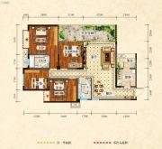 中央绿洲4室2厅2卫124平方米户型图