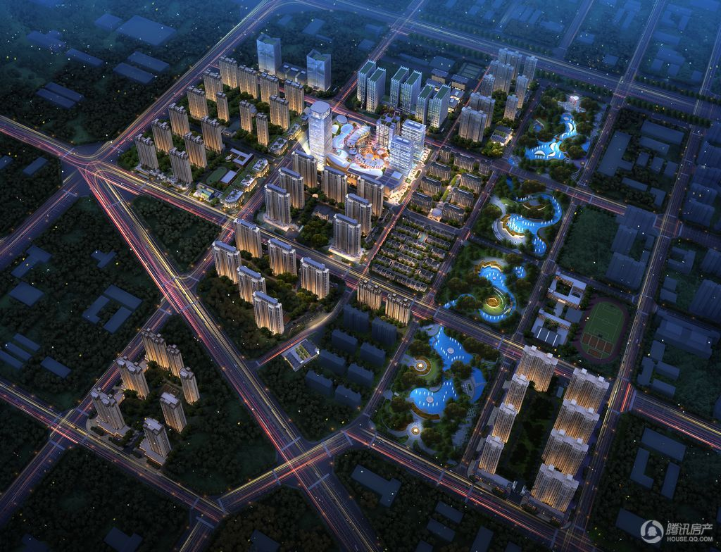 东南智汇城鸟瞰图夜景