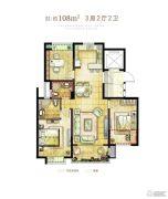 保利印江南3室2厅2卫0平方米户型图